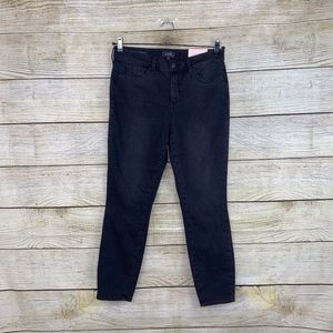 NEW NYDJ Ami Skinny Stretch Stone Wash Black Jeans